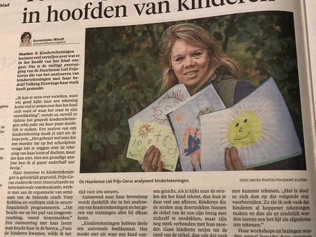 Artikel in het Haarlems Dagblad over Talking Drawings