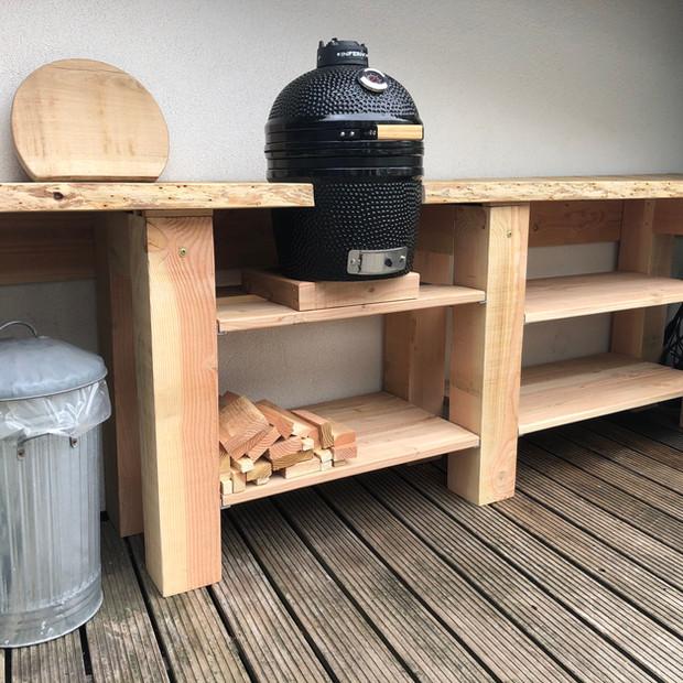 BBQ meubel Douglas hout