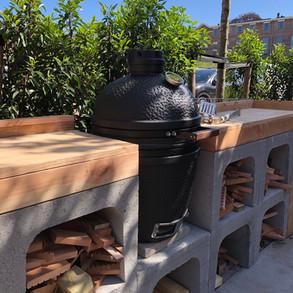 BBQ meubel met beton