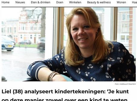 Artikel Indebuurt Haarlem over Talking Drawings