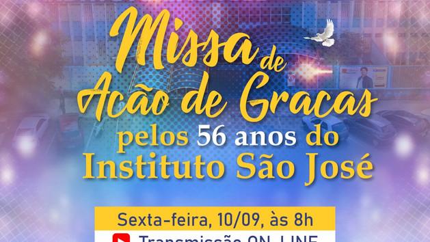 Venha celebrar conosco os 56 anos do Instituto São José! 🕊