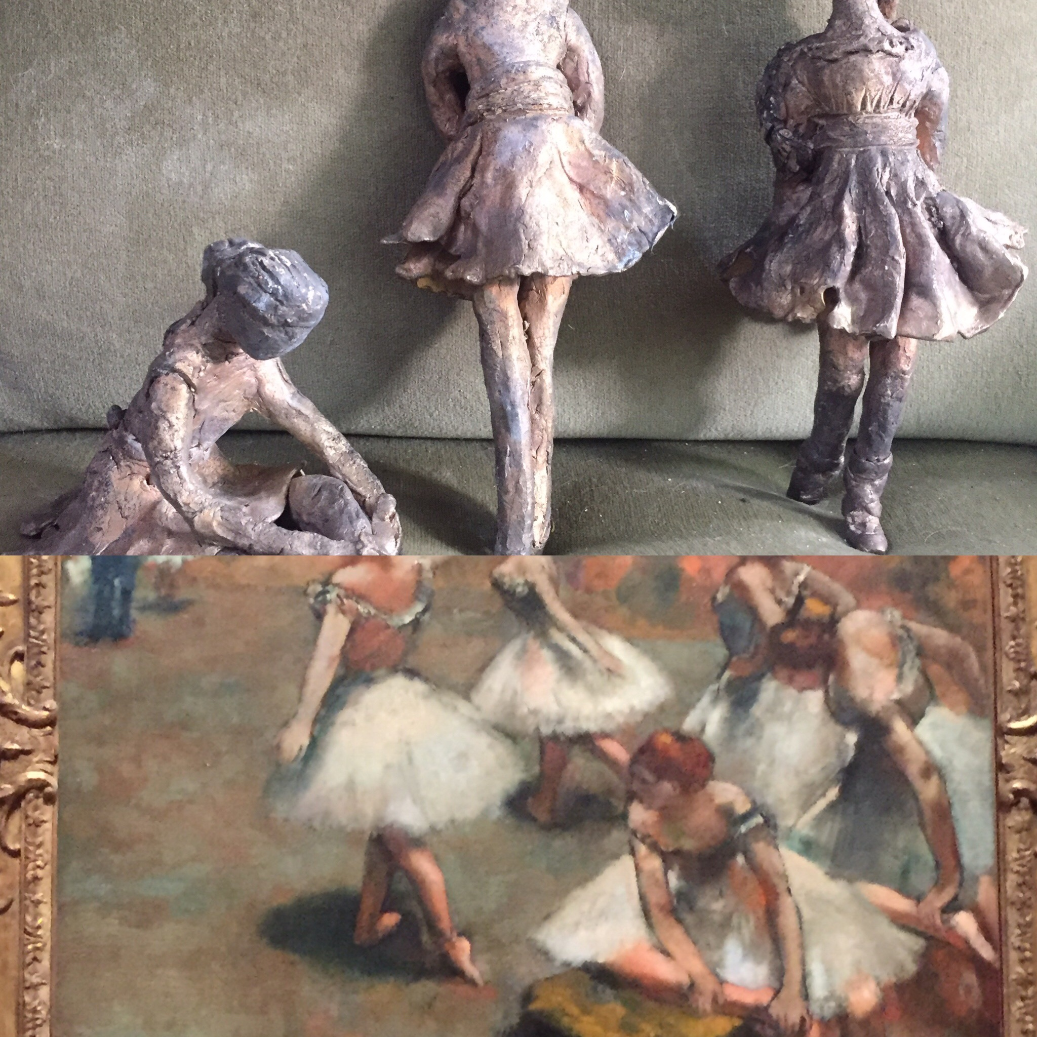 Ballerinas after Monet