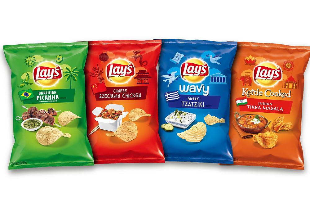 Lay's 2016 Lineup. Image Courtesy of Frito-Lay.