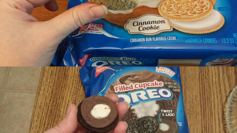 Cinnamon Bun & Filled Cupcake Oreos: Baked Goods Flavored Like Other Baked Goods!