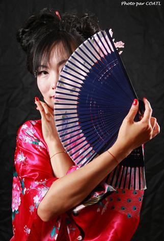 Lala en kimono