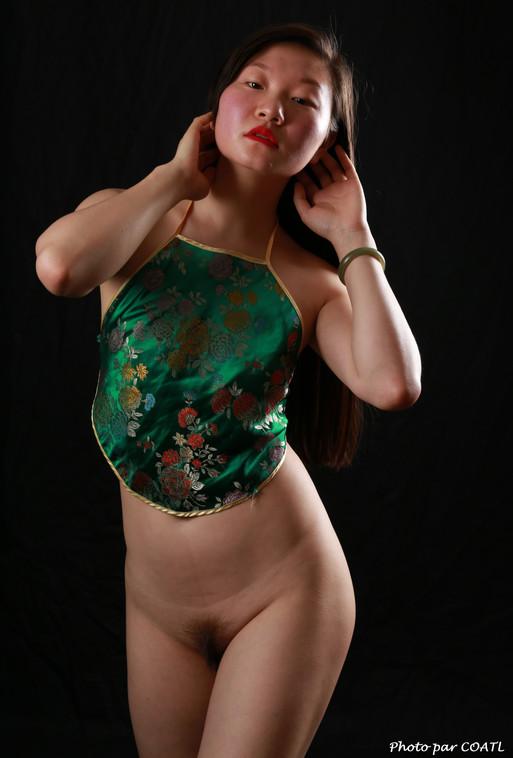 Lin Xizi en vert