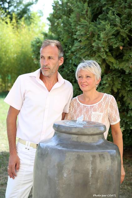 Aspire, couple franco-russe, la fontaine