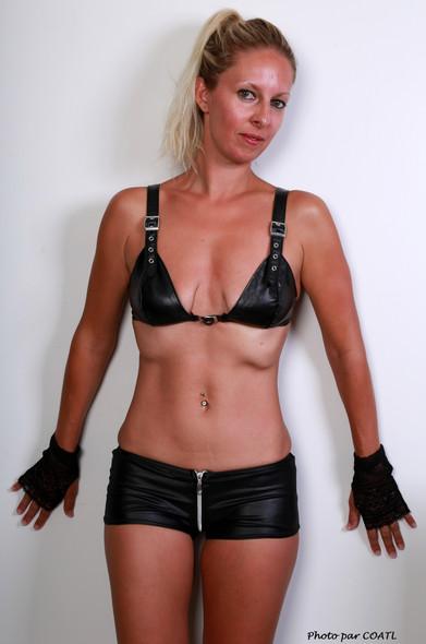 Adeline en cuir noir
