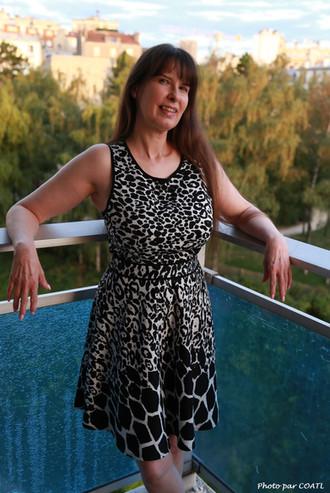 Jolanne au balcon
