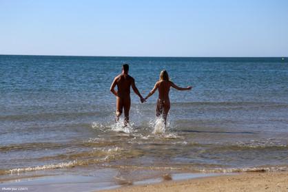 Ivi et Alex à la plage