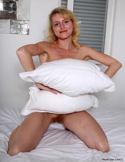 Jennifer Schmidt et son coussin