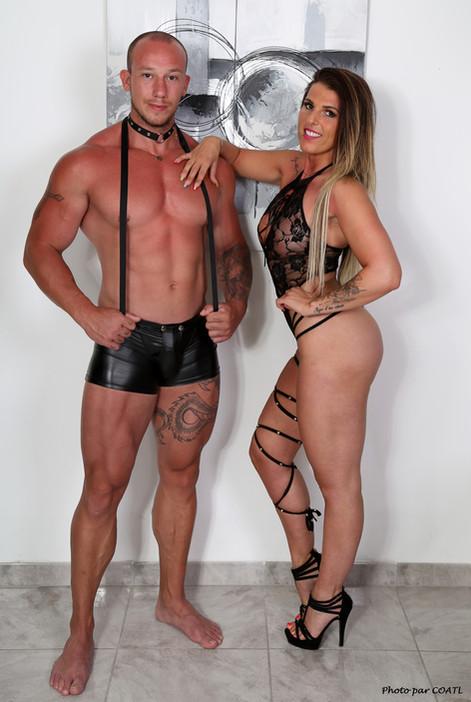 Bulma et Vogeta, en noir