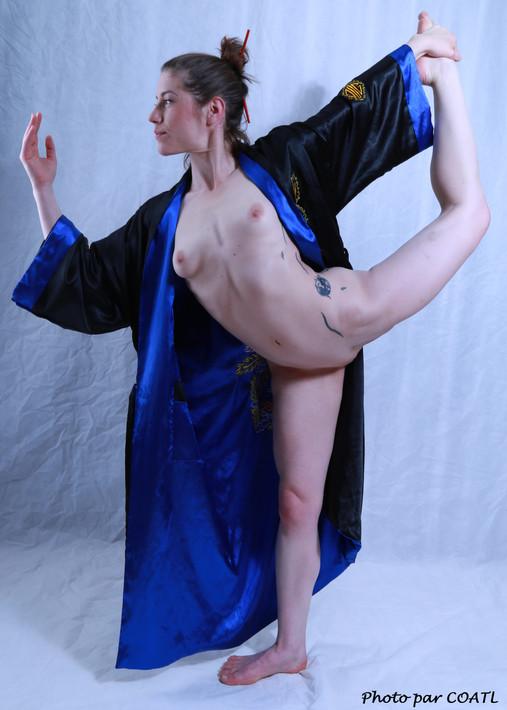 Gabrielle en kimono