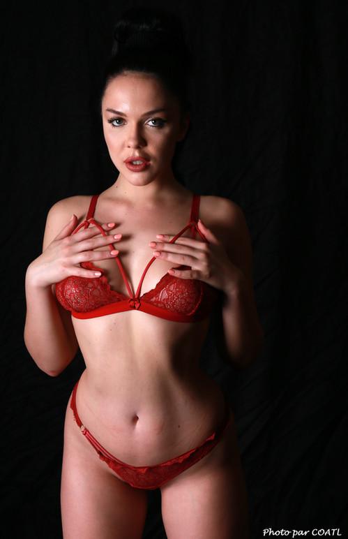 Olga Maria rougit