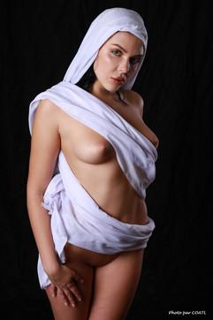 Olga-Maria Veide, enturbannée