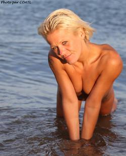 Graziella à la plage
