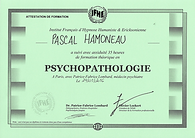 Attestation Psychopathologie