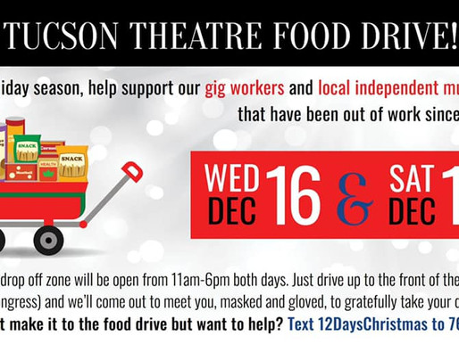 Tucson friends! Join us for The Fox Food Drive
