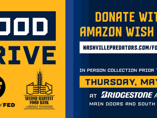 Musically Fed and the Nashville Predators Team Up to Help Stock the Shelves at Local Food Bank