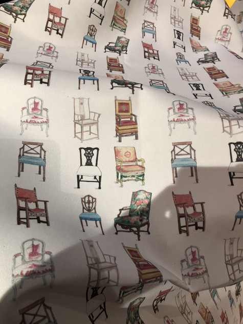 Chair Patterned Fabric