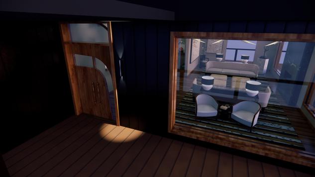 Exterior Front Door - Evening