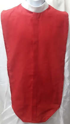 Red Clergy Full Collar Shirt Front