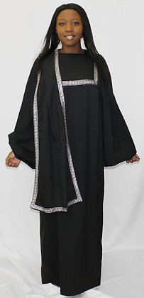 2-Piece Choir Robe with Right Side Stole