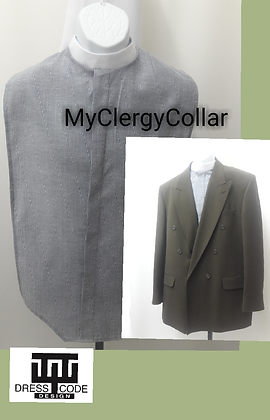 Men's Pin Striped Clergy Shirt Front