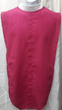 Fuscia Clergy Full Collar Shirt Front