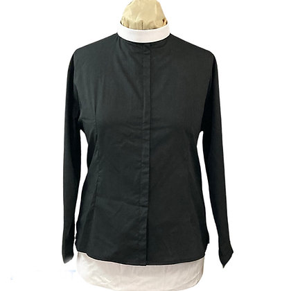 Woman's Zip Front Clergy Shirt