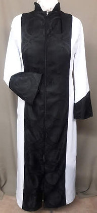 Black and White Clergy Dress
