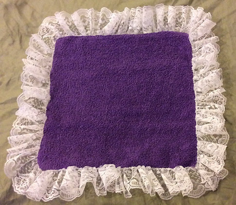 Terry Cloth Lace Face Cloth