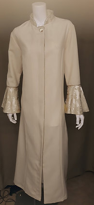 Robe Dress with Brocade Sleeves
