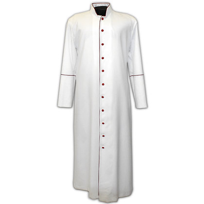 White Cassock With Red Trim