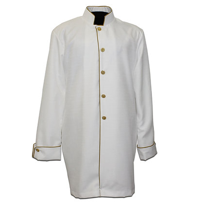 Linen Jacket with Gold Cording