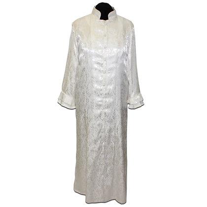 Satin Brocade Robe Dress