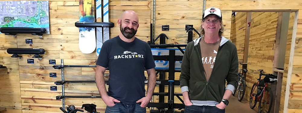 RackStarz Owner Nick Bullion (left) and RockyMounts Chieftain Bobby Noyes (right)