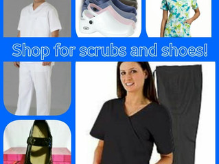 SHOP FOR SCRUBS AND SHOES!