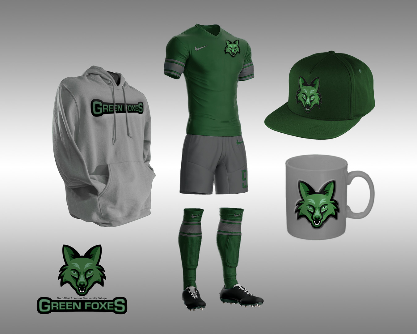 Green Foxes Mascot