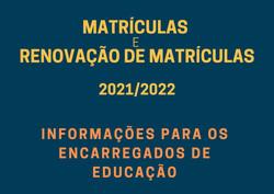 matriculas 2021 2022