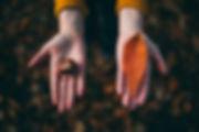 יד עם עלה ויד עם שבלול
