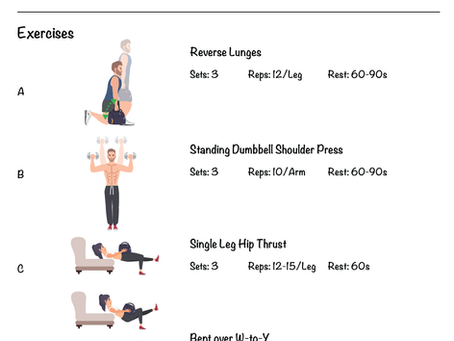 Novice Home Workout Program Phase 2 - Day B