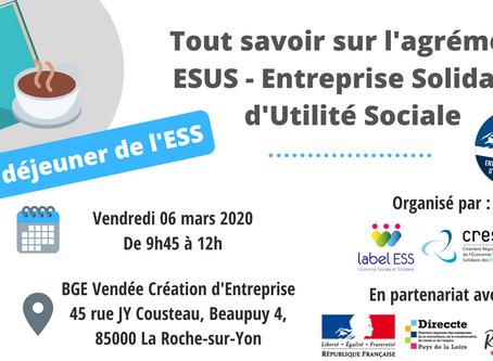 Petit déjeuner de l'ESS : Tout savoir sur l'agrément ESUS - Entreprise Solidaire d'Utilité Sociale