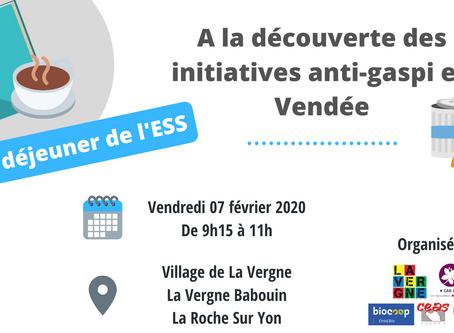 Petit déjeuner de l'ESS : A la découverte des intiatives anti-gaspi en Vendée