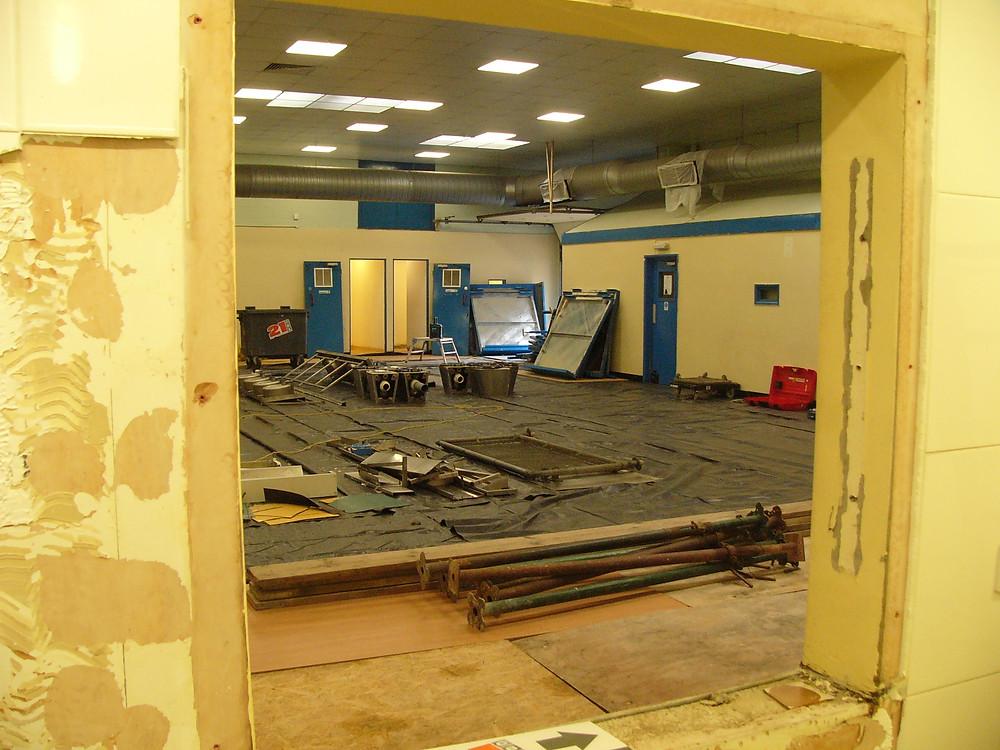 Bathroom & kitchen stripped down