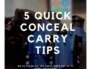 5 QUICK CONCEAL CARRY TIPS