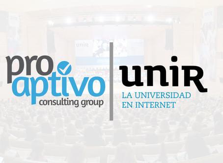 Nuevo convenio entre Proaptivo y la Universidad Internacional de la Rioja - UNIR