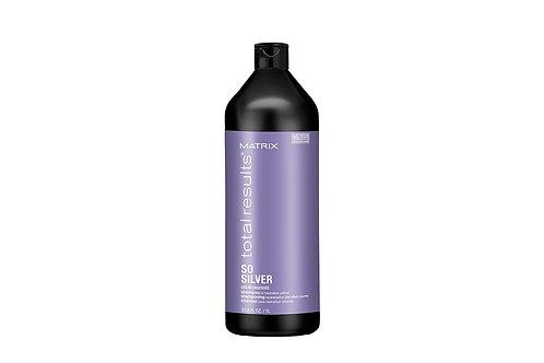 MATRIX So Silver Шампунь для нейтрализации желтизны осветленных волос, 1000мл