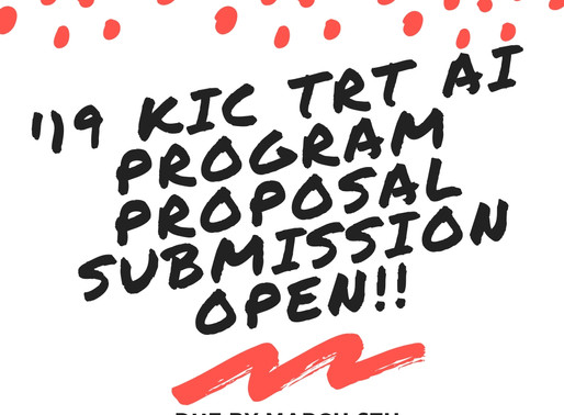 [Closed] KIC TRT AI(Artificial Intelligence) Program Proposal Submission