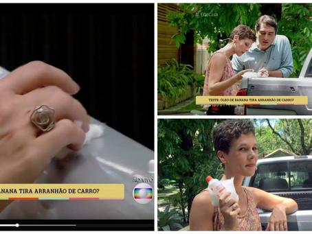 Anel Flor Enrolada no programa 'É de Casa' da Rede Globo